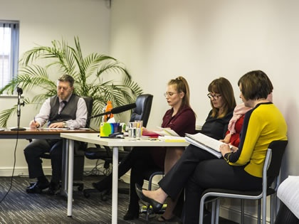 Mock Employment Tribunal with Kidwells Solicitors