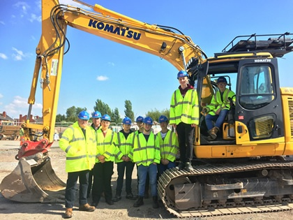 Construction Students visit City Link Road Site