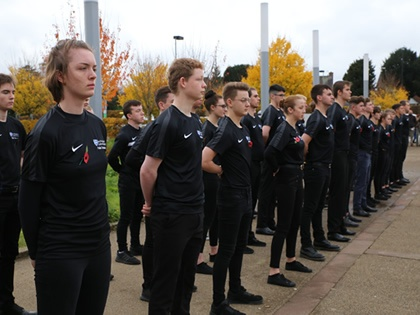 Students in Remembrance Parade